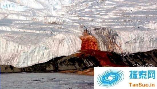 全球十大神秘的另类自然现象——血色瀑布_大火瀑布_磁山等!