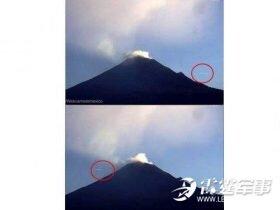 墨西哥火山喷发后 惊现UFO飞掠而过!